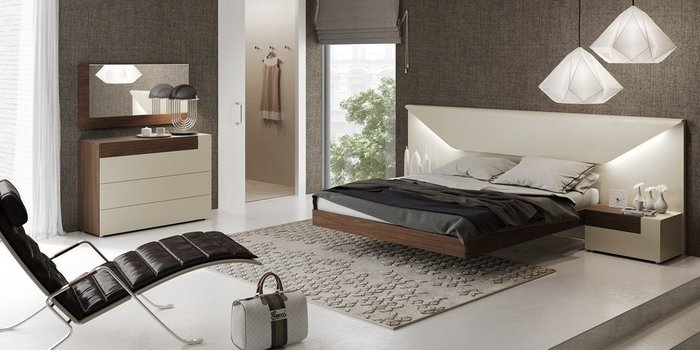 Двухспальная кровать Elena с подсветкой 180х200