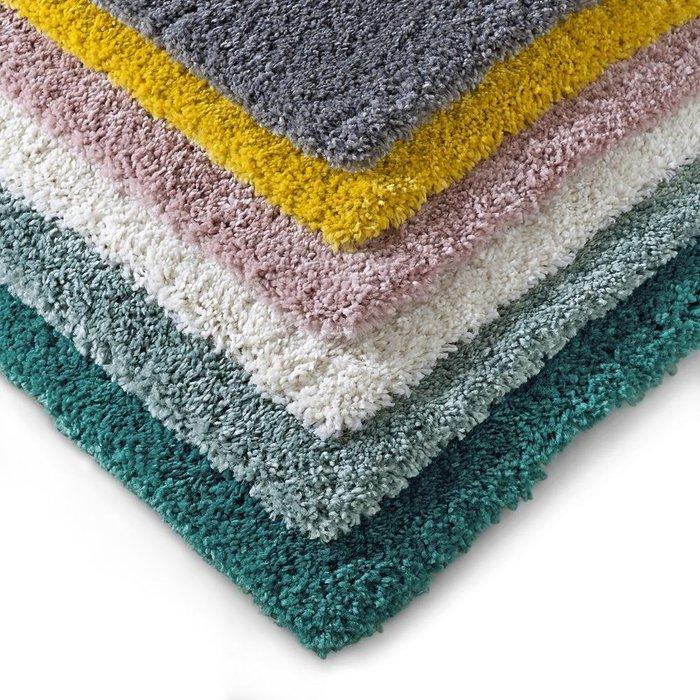 Прикроватный коврик Afaw из искусственной шерсти с длинным ворсом серого цвета 60x110 см