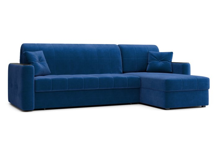 Угловой диван-кровать Ницца синего цвета