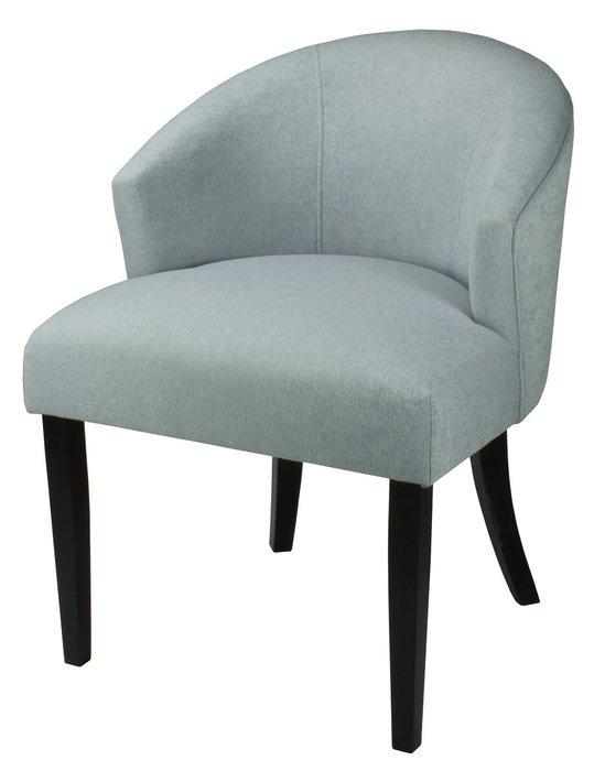 Стул-кресло мягкий Adonis серо-голубого цвета