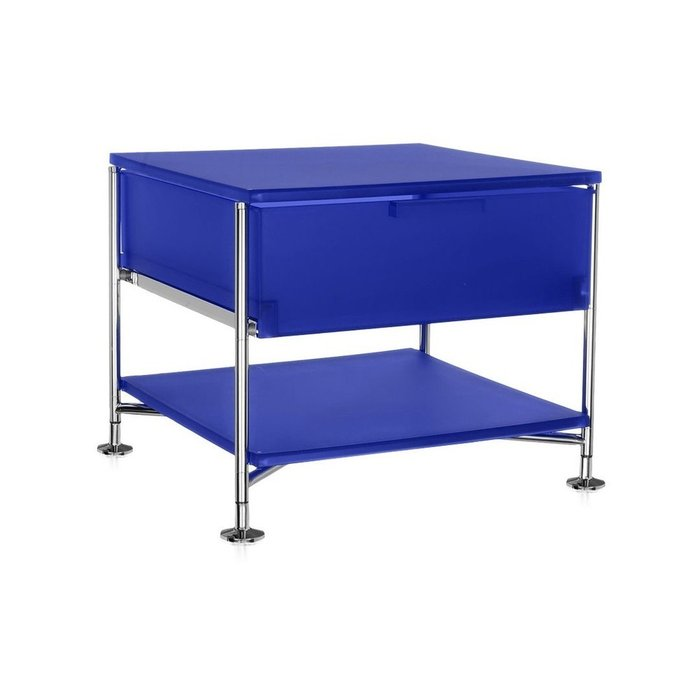 Контейнер Mobil на ножках синего цвета