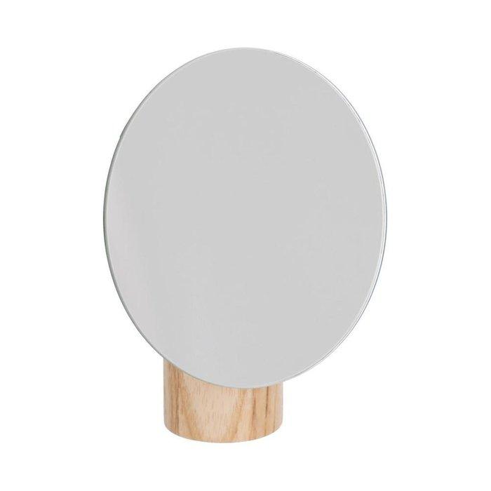 Настольное зеркало Veida с деревянной подставкой светло-коричневого цвета