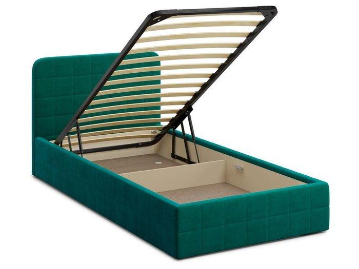 Кровать с подъемным механизмом Adda 120х200 зеленого цвета