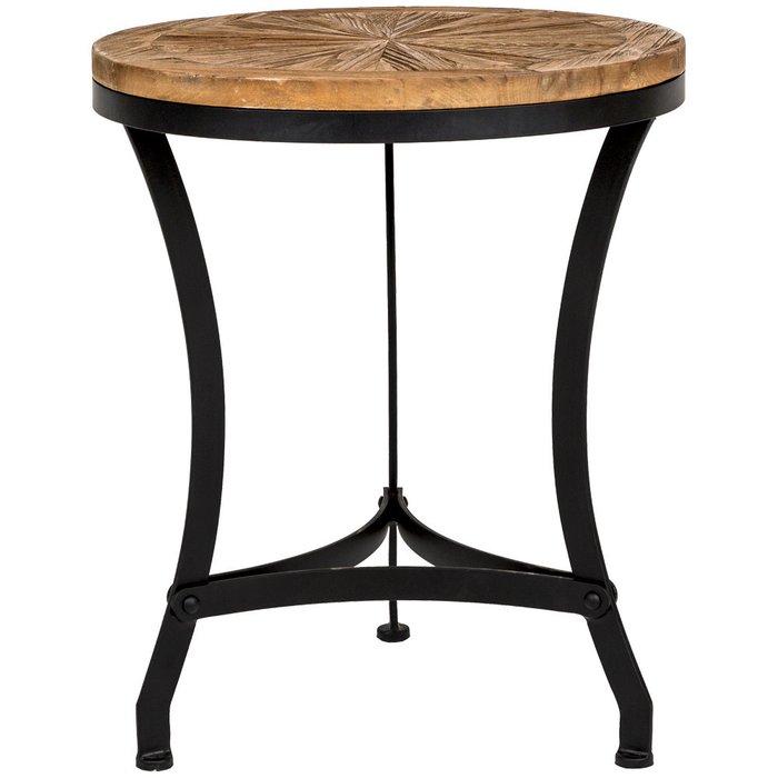 Кофейный столик Латте из антикварного дерева и металла