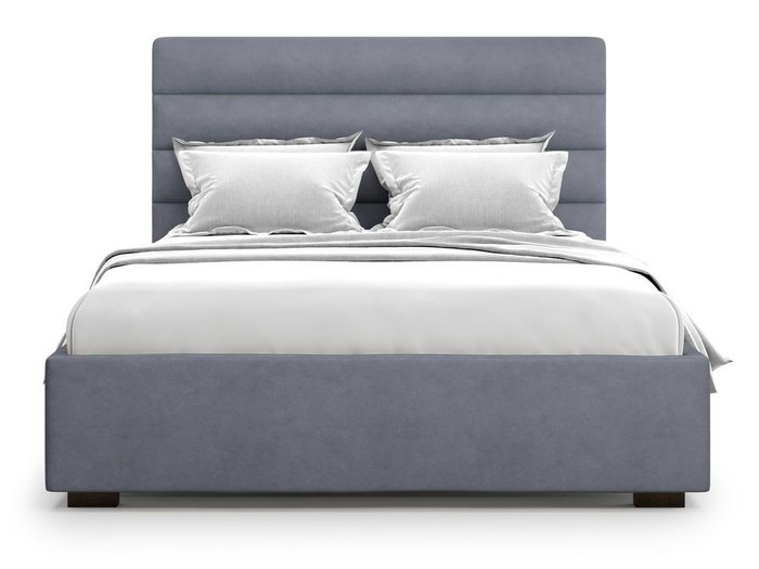 Кровать с подъемным механизмом Karezza 180х200 серого цвета