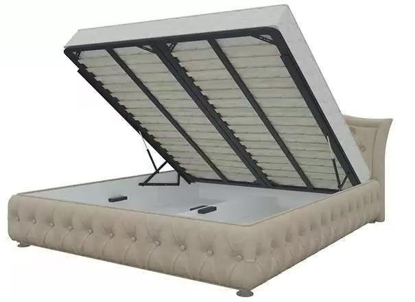 Кровать Герда 140х200 бежевого цвета с подъемным механизмом