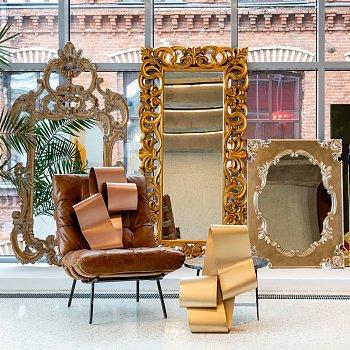 Настенное зеркало Монпелье с золотой патиной