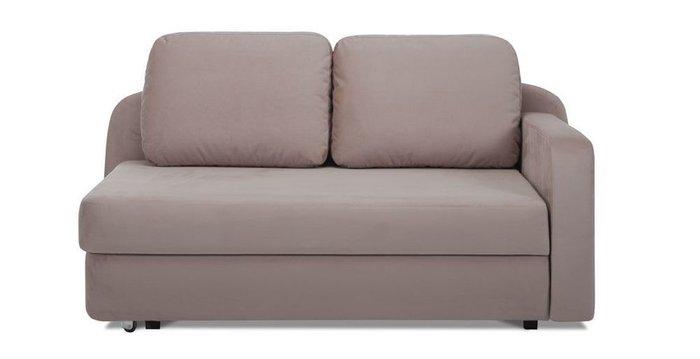 Кушетка-кровать Альта серо-коричневого цвета