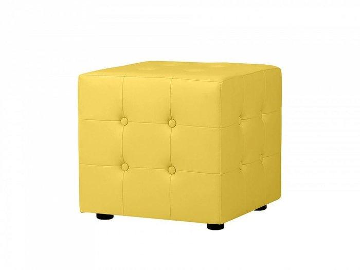 Пуф Rubik Plus с декоративной строчкой и пуговицами