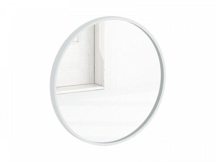 Настенное зеркало Focus 50х50 в раме белого цвета