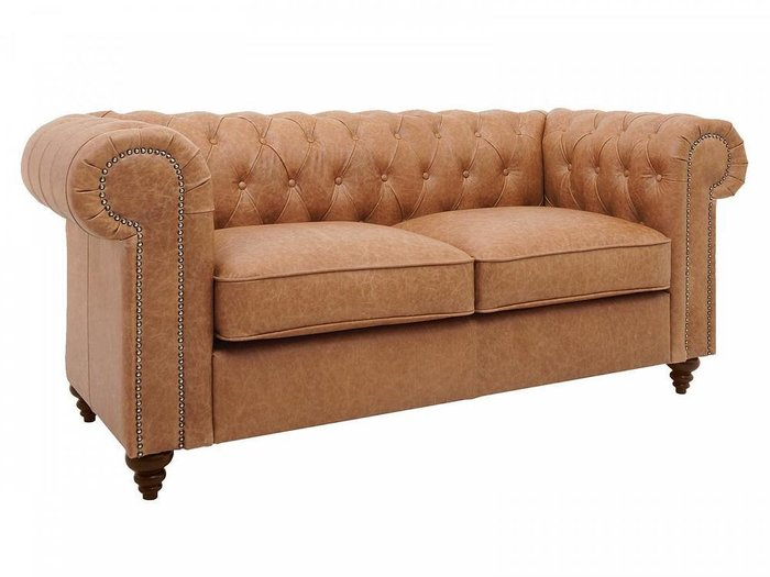 Прямой диван Chester Classic карамельного цвета