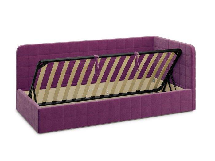 Кровать с подъемным механизмом Tichina 120х200 фиолетового цвета
