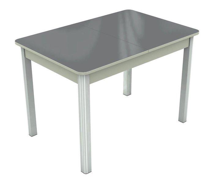 Раздвижной обеденный стол Гамбург со столешницей серого цвета