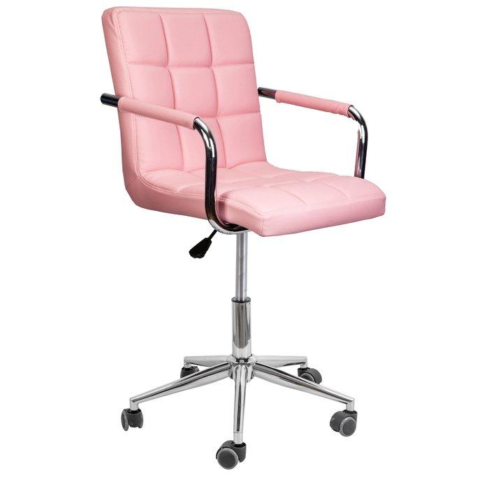 Офисный стул Rosio розового цвета