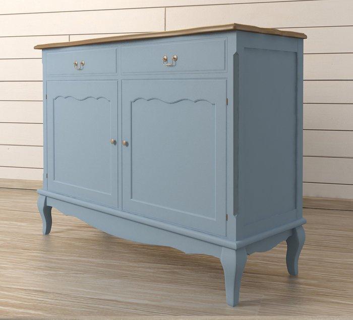 """Голубой комод """"Leontina"""" из массива дерева с ящиками"""