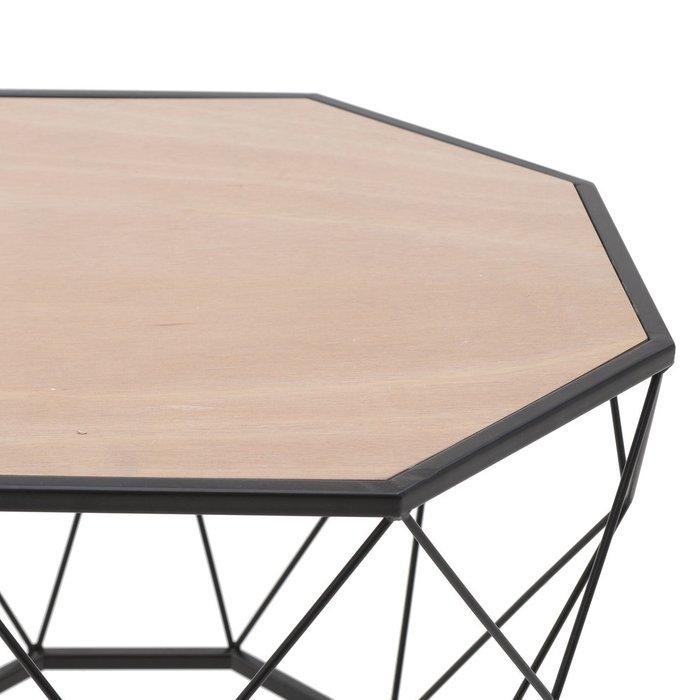 Журнальный столик из дерева и металла