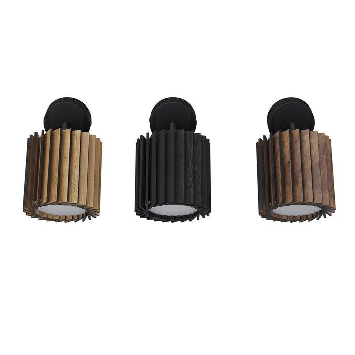 Светильник Rotor Unit из дуба черного цвета