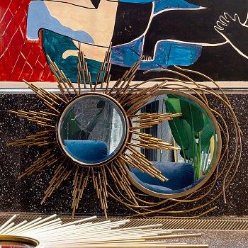 Настенное зеркало Бильбао золотого цвета