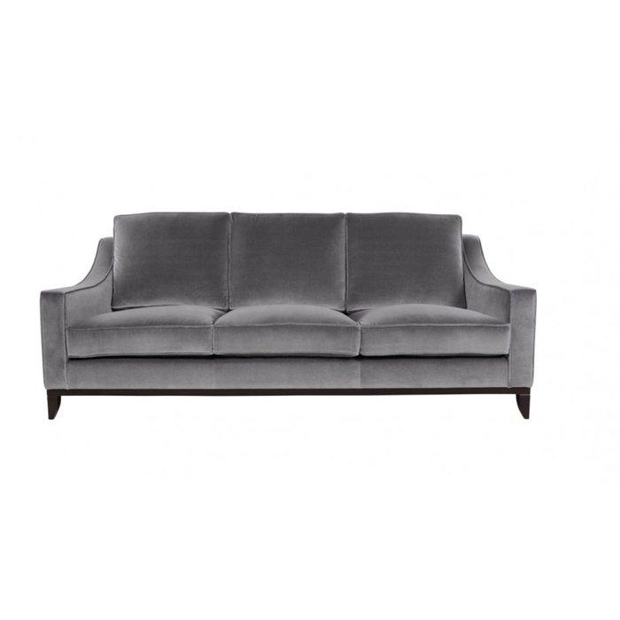 Прямой диван Франциско L серого цвета