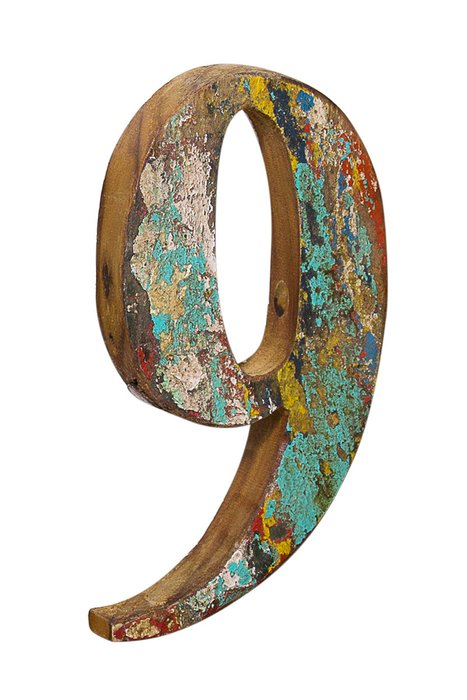 Декор Цифра 8 из фрагмента рыболовецкого судна