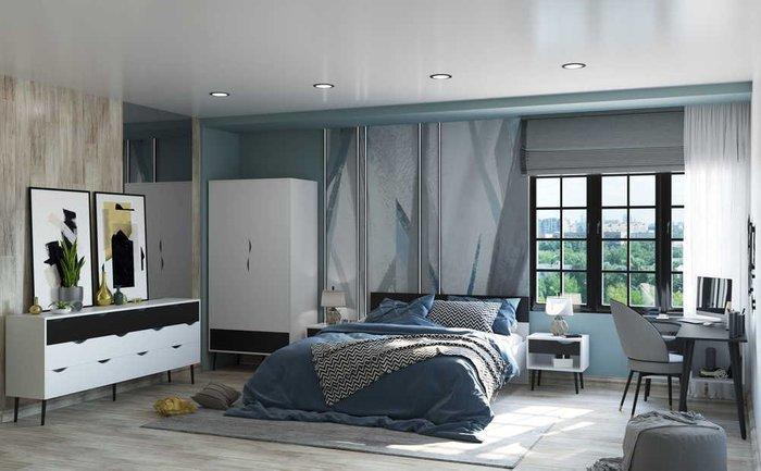Кровать Oslo 160х200 с черным изголовьем