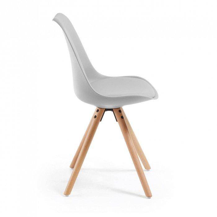 Набор из четырех стульев Lars серого цвета