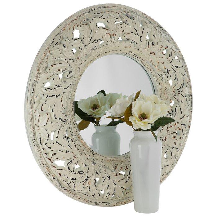 Зеркало настенное Версаль белого цвета
