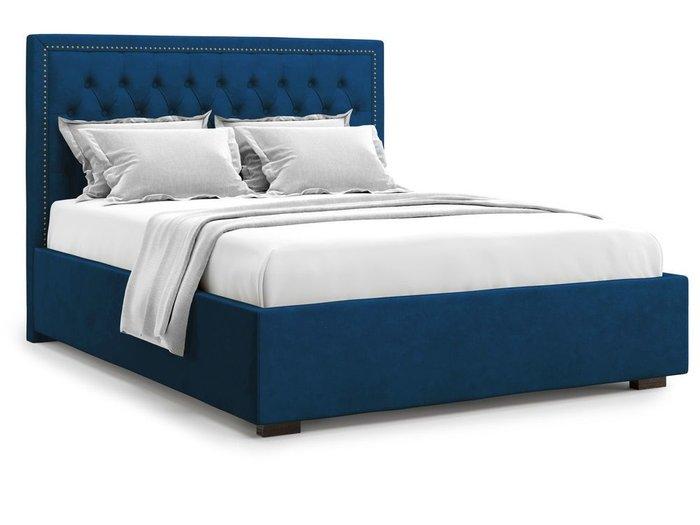 Кровать с подъемным механизмом Orto 140х200 синего цвета
