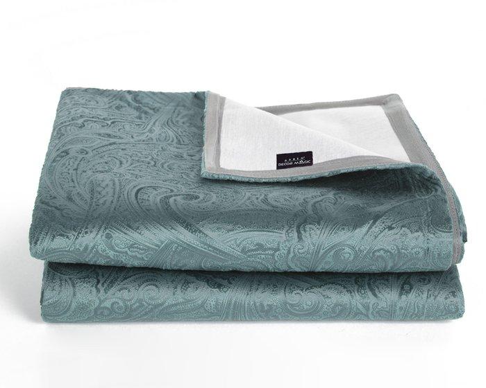 Покрывало Duo Glance Twiddle Mint 230x240 темно-бирюзового цвета