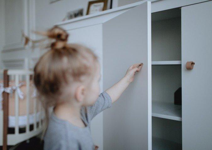 Детский шкаф Classic белого цвета