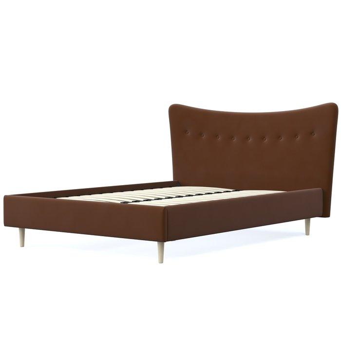 Кровать Финна 180x200 темно-коричневого цвета