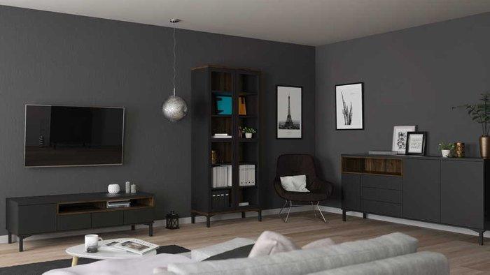 Тумба под телевизор Roomers черного цвета