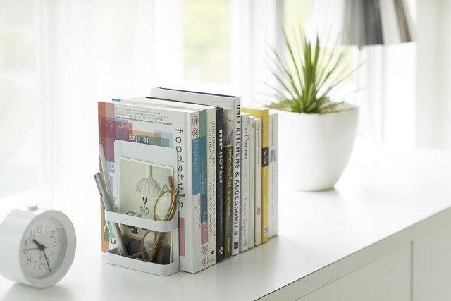 Набор из двух держателей для книг Tower белого цвета