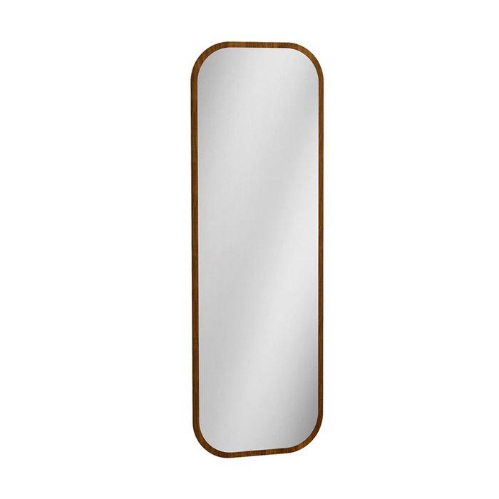 Настенное зеркало Сканди с деревянной рамой