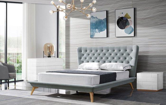 Кровать Bohemia 160х200 серого цвета