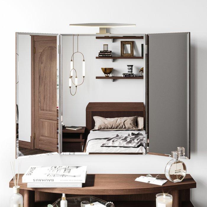 Зеркало-трельяж Магна цвета Кедр шоколад