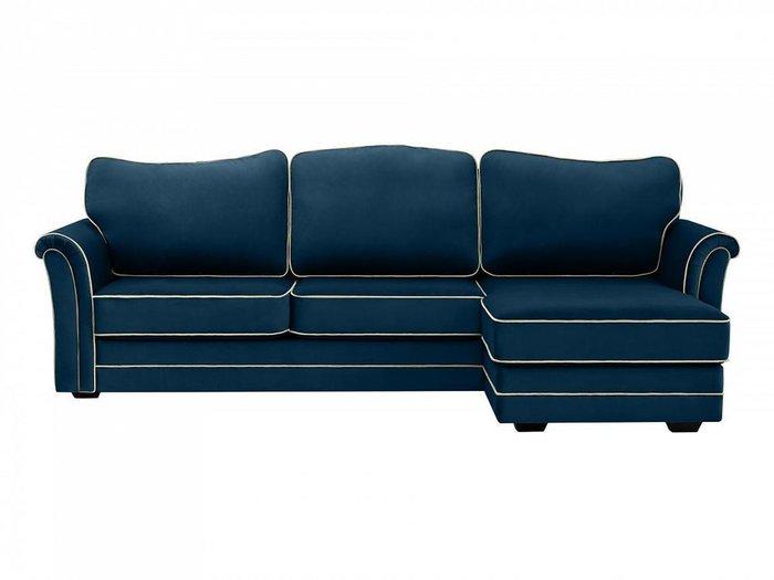 Угловой диван-кровать Sydney темно-синего цвета