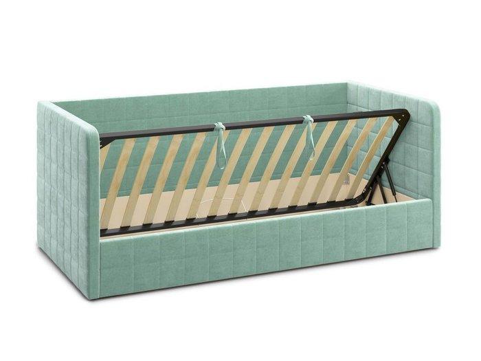 Кровать с подъемным механизмом Brenta 120х200 мятного цвета