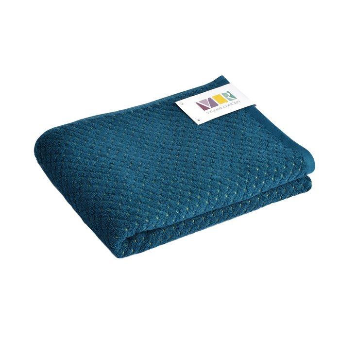 Полотенце из хлопка темно-синего цвета 50х100