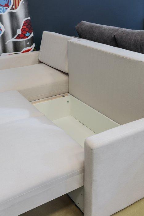 Угловой диван-кровать Винс синего цвета