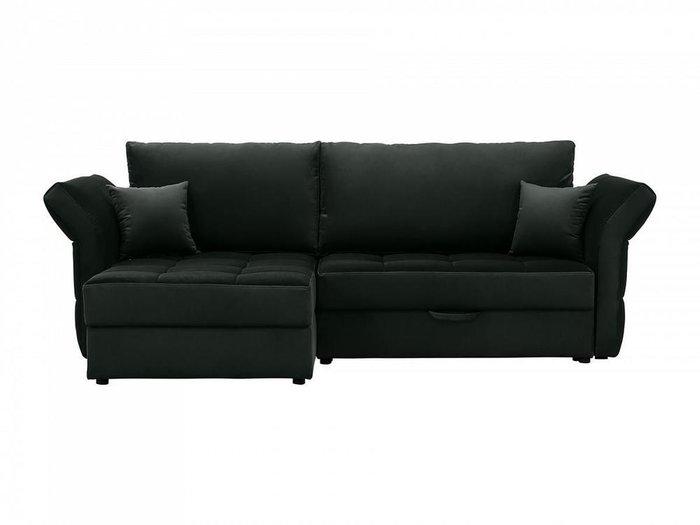 Угловой диван-кровать Wing черного цвета