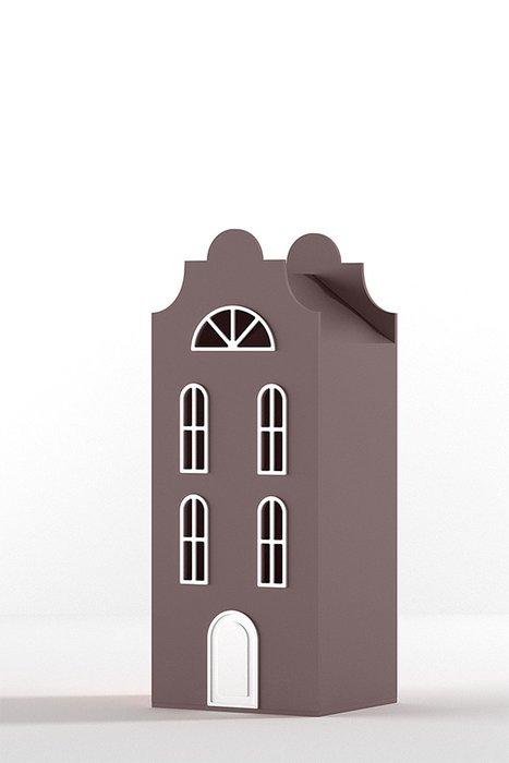 Шкаф-домик Стокгольм Mini сливового цвета