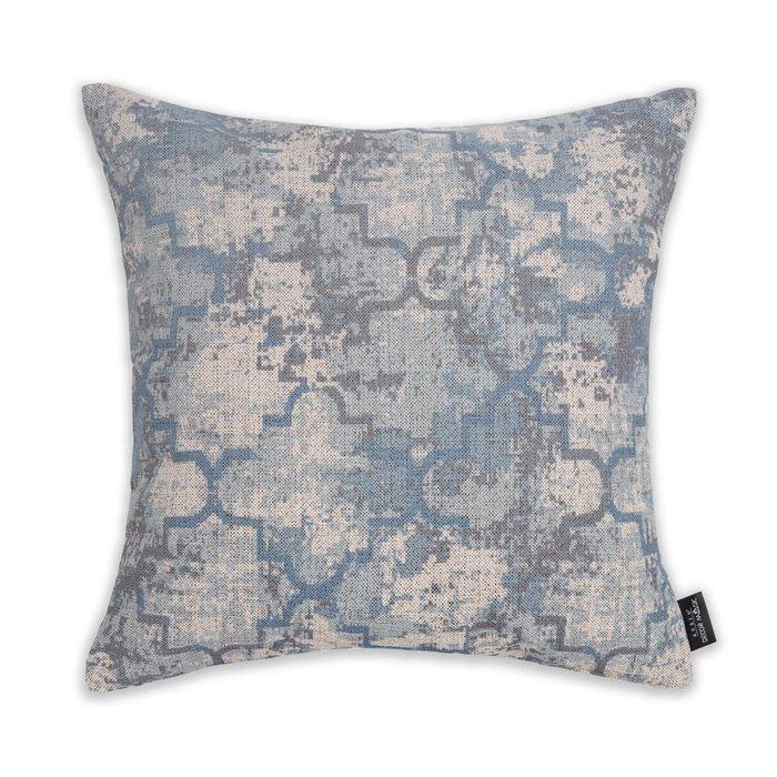 Декоративная подушка Maribo 45х45 сине-бежевого цвета