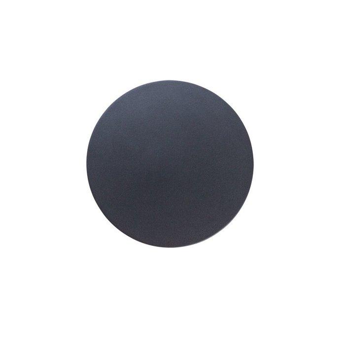 Уличный настенный светодиодный светильник Nimbo черного цвета