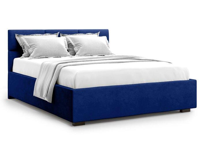 Кровать Bolsena 140х200 синего цвета с подъемным механизмом