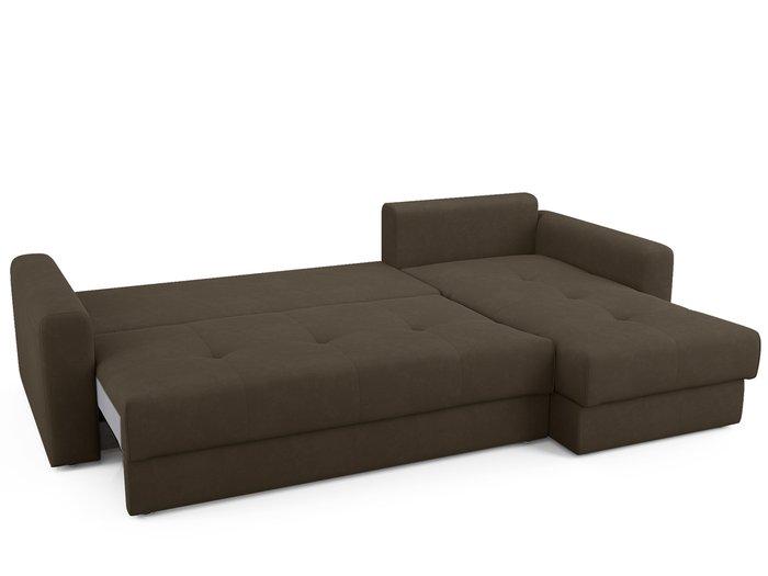 Угловой диван-кровать Ruiz темно-коричневого цвета