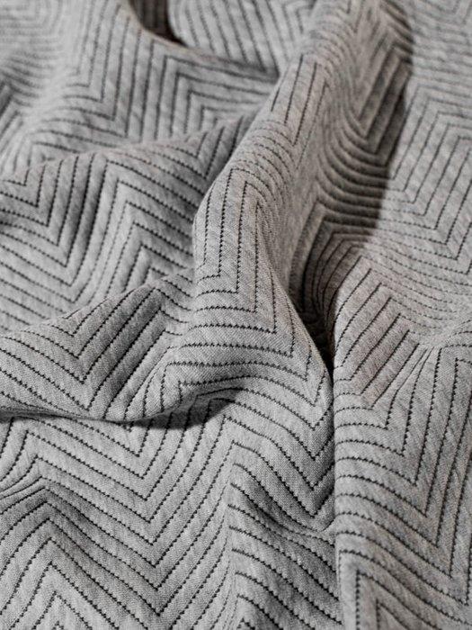 Набор из двух наволочек Pisa grey серого цвета