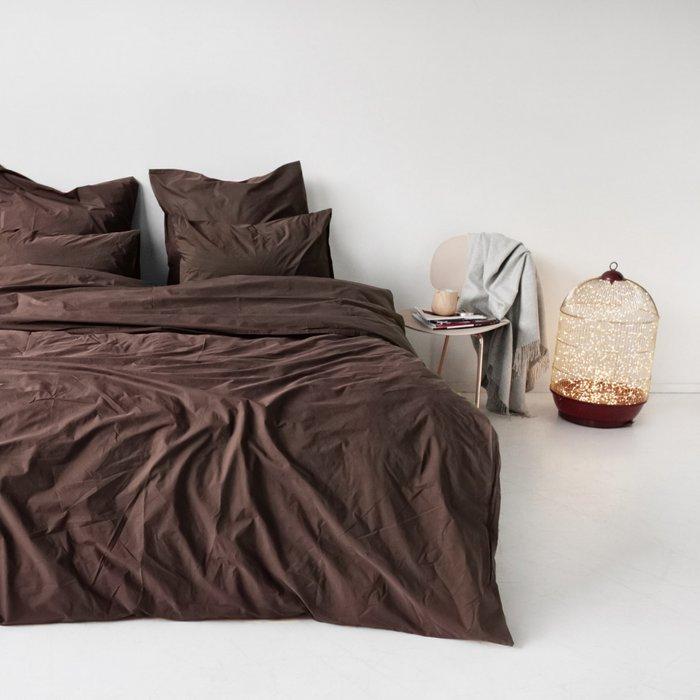 Комплект постельного белья коричневого цвета 150х215 (семейный)