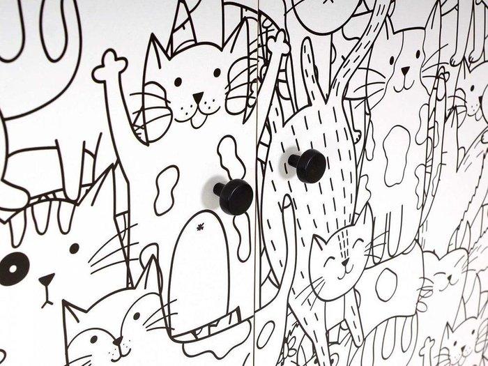 Композиция Frida 4 с принтом Meow на деревянных ножках