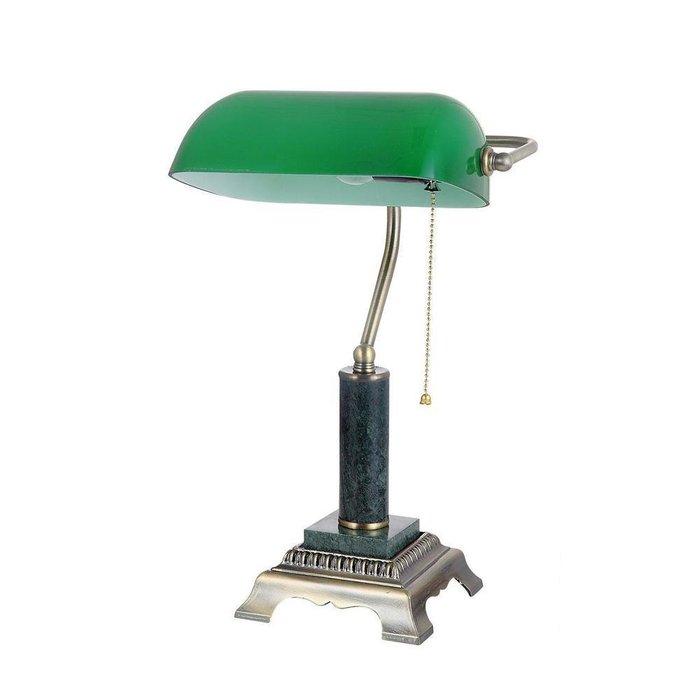 Настольная лампа из металла и стекла